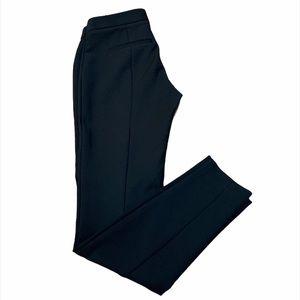 Express Black High Rise Straight Leg Trousers